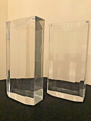 Vintage Pair Of Mid Century Modern Lucite / Acrylic Bookends