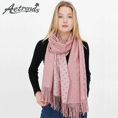 [AETRENDS] 2019 New Fashion Dot Design Winter Women Scarf Cashmere Feel Scarves