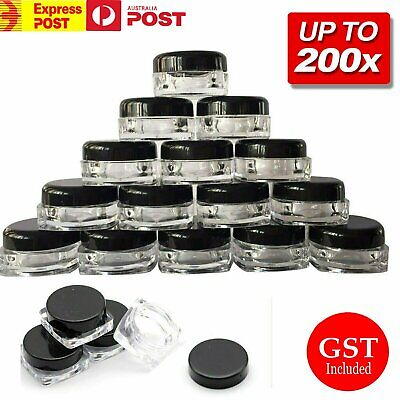 50/100pc 3g Sample Bottle Cosmetic Makeup Jar Pot Face Cream Lip Balm Containers