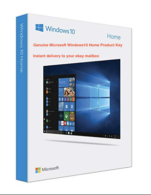 Genuine Windows10 Home 32/64 Bit Retail Product Key-Instant delivery
