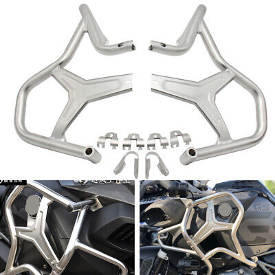 Engine Highway Crash Bar Guard Steel Protector Cover for BMW R1200GS/ADV 2014-18