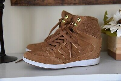 sneakers for cheap 2e6fe 6705f WOMEN'S ADIDAS NEO Super Wedge Sneaker Boots Shoes Size 8 - $50.00 ...