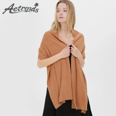 [AETRENDS] 6 Solid Colors Warm Velvet Scarves Women 2019 New Winter Scarf