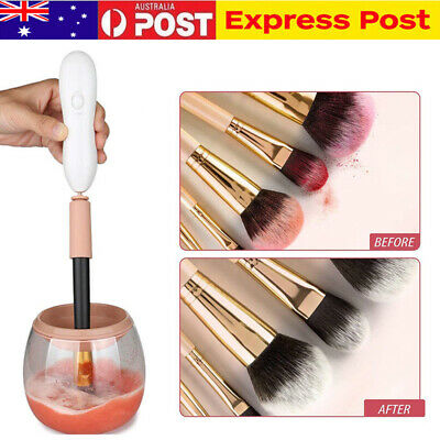 Make Up Brush Electric Cleaner Dryer Set Cosmetic Auto Clean Dry Washing Tool AU