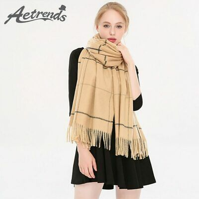 [AETRENDS] 2019 New Classic Striped Design Winter Women Scarves Cashmere Feel