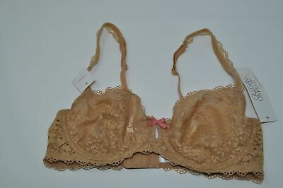 Gilligan /& O/'Malley Balconetta Unlined Lace Bra Pink Size 34C 36D NEW