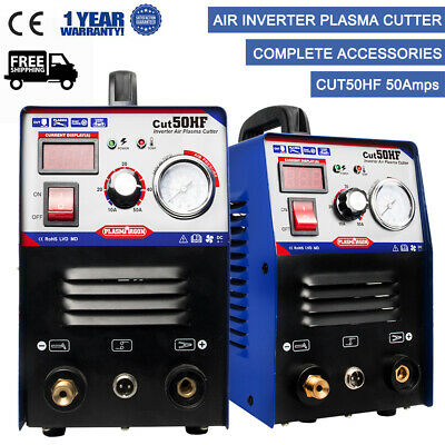 CUT50 Plasma Cutter 50A Inverter DIGITAL & Accessories 230V & Torches 1-12mm New
