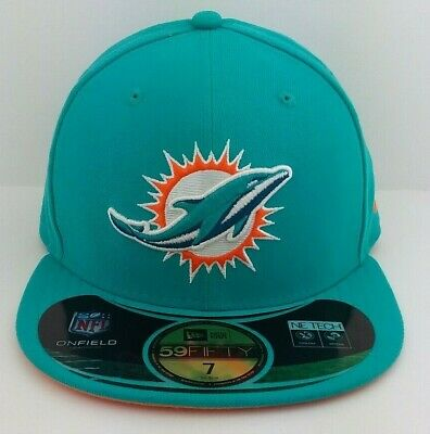 MIAMI DOLPHINS HAT Cap Nfl New Era 59Fifty Custom Fitted Felt ... 61a254df7