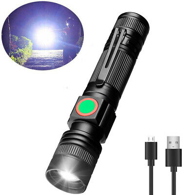 XML-T6 LED USB Rechargeable Zoomable Flashlight Torch Bright Lamp Light 3 Modes