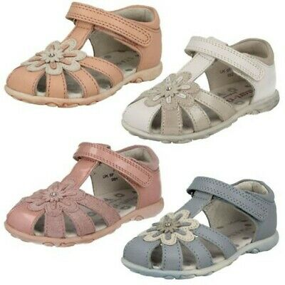 """UK3 UK4 STARTRITE /""""BOUNCY BALL/"""" BOYS BROWN LEATHER CLOSED TOE SANDALS"""