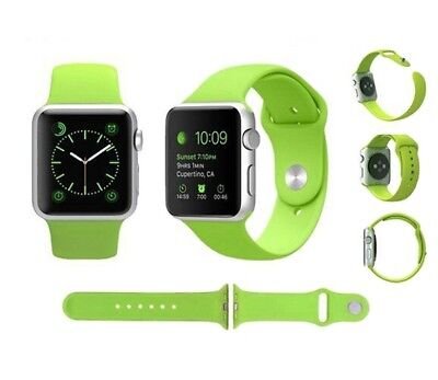 Para Apple Watch 44mm Serie 4 Recambio Correa reloj silicona Verde
