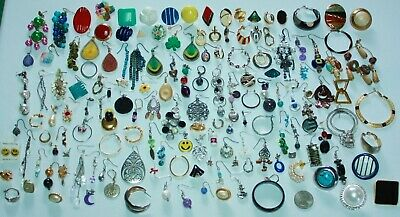 150 Vintage To Now Pierced Earrings;hoops, Dangles, Posts-Several Signed-Exc!