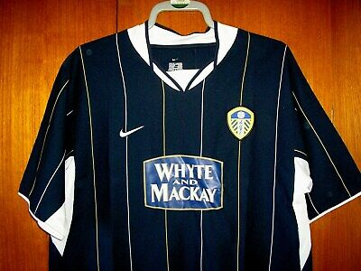 Leeds United Football Shirt Nike Navy Blue away 2003/4 size XL 45/47