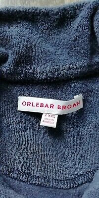 Orlebar Brown kids navy terry Polo age 2