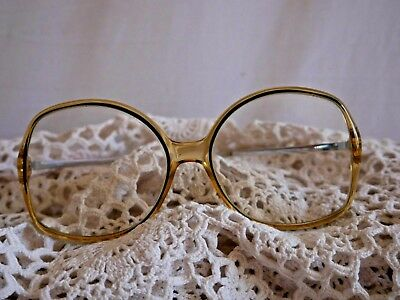 Vintage Retro 1970s Oversized Sunglasses Fashion Yellow & Blue
