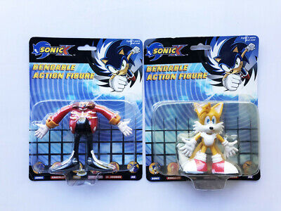 Sonic X - Collectible Bendable Figures - Knuckles & Dr Eggman - New