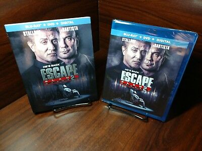 Escape Plan 2: Hades (Blu-ray+DVD+Digital)Slipcover-NEW-Free Shipping with Track