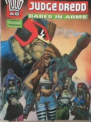 Judge Dredd Babes In Arms A Collection Of 5 Stories Paperback.