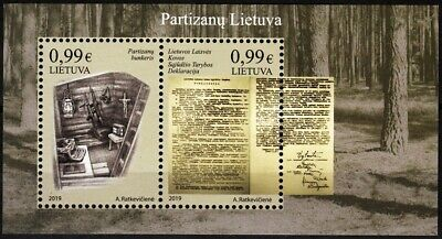LITHUANIA 2019-05 Partisans Land. War, Fight for Independence, MNH