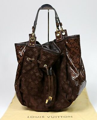 fa4af4fc9cfa Louis Vuitton Irene Monogram Embossed Suede Patent Leather Limited Edition  Purse