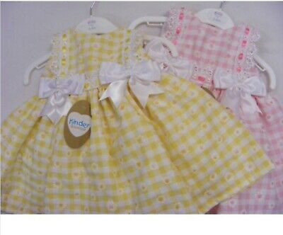Kinder Baby Girl Dress With Bow Style Lemon 0-3 Month, Pink 0-3 & 3-6 Month