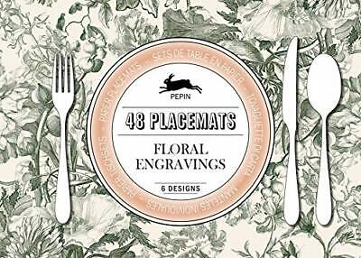 Pepin Paper Placements Floral Engravings 48 placemats (8x6 designs) 420x300 mm