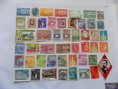 Venezuela Coll'n of stamps off paper -2-25