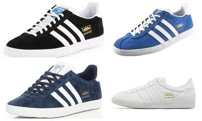 Adidas Originals Mens Gazelle OG Lace up Leather Trainers Suede Casual Shoes 8e2a91f17