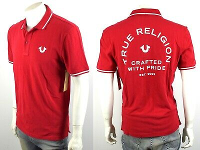 5097c8877 TRUE RELIGION MEN'S Crafted Pride Logo Polo Shirt Top - MYJA236EAT ...