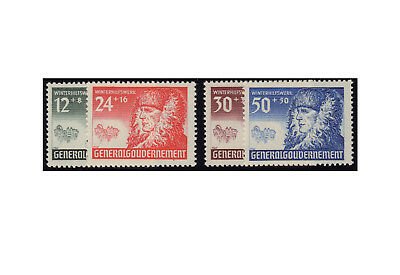 Generalgouvernement Postage Stamps: Winter Aid 1940 Michel No. 59/62 Mint