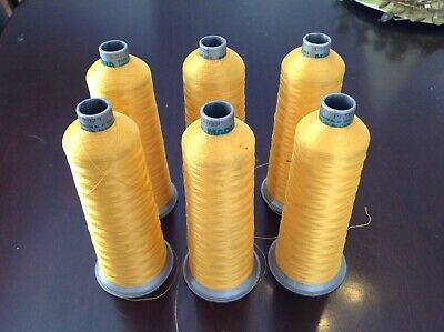LOT Of 6 Madeira Polyneon Embroidery Thread 5000m Cone Color 1624 1971 7021