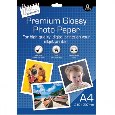 8 Sheets A4 Photo Paper Glossy For High Quality Digital Prints Long Lasting