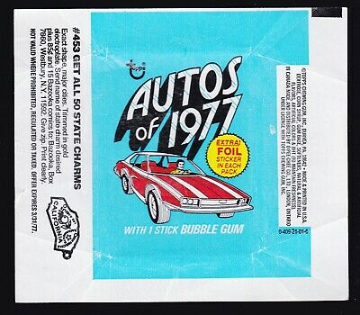 Autos Of 1977 - For Sale Is A Topps 1977 Gum Card Wax Wrapper