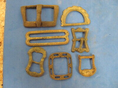 FANTASTIC Lot of (7) Bronze Buckles  Artefacts, Ancient to Post Medieval