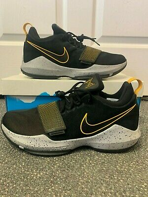 cd009a658d8 Nike PG 1 Paul George Size 12 New from Nike Size 12 Black Yellow Gold 878627
