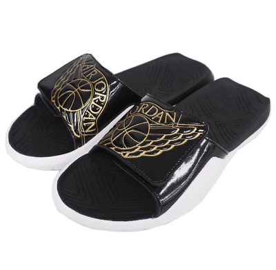0ce3e9ae0 New Nike Jordan Hydro 7 Men s Slides Sandals AA2517 021 Black Gold White