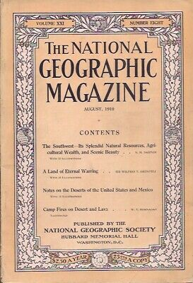 national geographic-AUG 1910-CAMP FIRES ON DESERT AND LAVA.