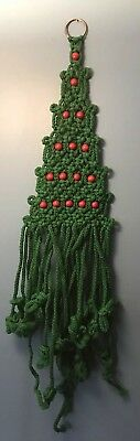 Cordage Source Raven Macrame Christmas Tree Hanging Holiday Kit Partially Worked