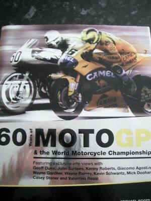 SIGNED 60 Year of Moto GP & World Motorcycle Championship Schwantz Agostini more