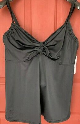 adfdde0772976 NWT Swimsuits For All Black Padded W  Underwire Tankini Top Size 16 DD F