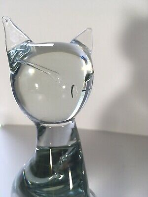 Archimede Seguso. Murano glass Siamese Cat. Large!