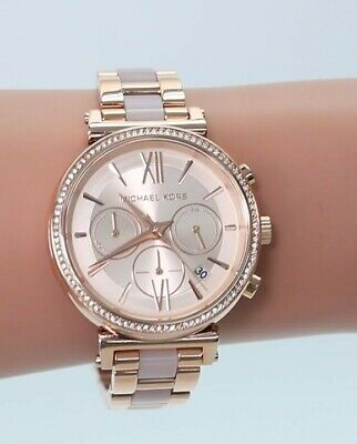 2d57386d65f4 Michael Kors MK6560 Sofie Pavé Rose Gold-Tone Stainless Steel Watch