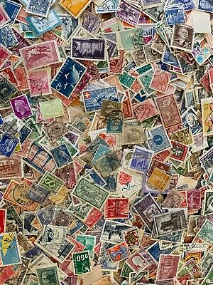 1000 Different European Stamp Collection Lot - Mint and Used Varieties