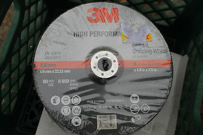 New 3M 9 inch High Performance grinding wheels 1/4 inch x 7/8 arbor Quanity 2