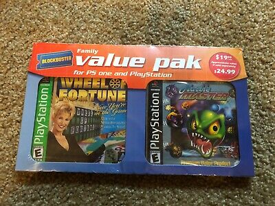 PlayStation One Twin Pack Wheel of Fortune and Marble Master-New and Sealed