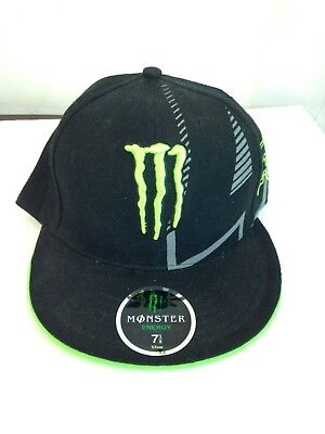 RARE STYLE Fox Racing Monster Energy trucker Hat  4 Ricky Carmichael Size  7-1 a3998ca583a