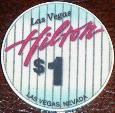 Old $1 LAS VEGAS HILTON Casino Poker Chip Vintage Antique Chipco Mold Las Vegas