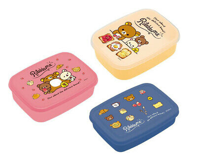 "San-X Rilakkuma ""Lunch Market"" 3 x Food Containers (2018)"