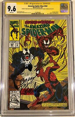 Amazing Spider-Man 362 CGC 9.6 SS sign x3 Stan Lee Bagley Emberlin Carnage Venom