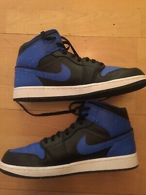 cc078c42cb6efc Nike Air Jordan 1 Mid Royal Paint Splatter Mens Size 11.5 Mids WORN ONCE